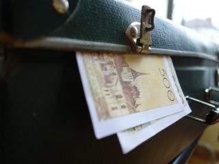 Valise 500 francs fermée